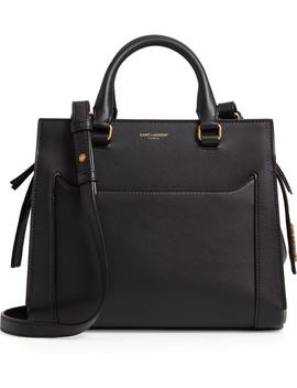 East Side Baby Cabas Leather Satchel by Saint Laurent