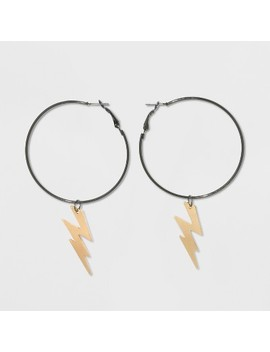 Lightning Bolt Hoop Earrings   Wild Fable™ by Wild Fable