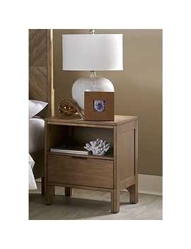 Progressive Strategy Brown Wood, Veneer And Mdf Nightstand by Progressive