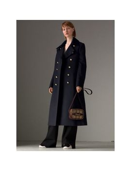 Doeskin Wool Military Coat by Burberry
