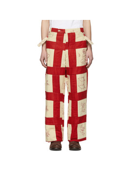 Multicolor Patchwork Side Tie Trousers by Bode