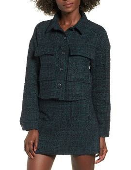 Tweed Crop Jacket (Regular & Plus Size) by Leith