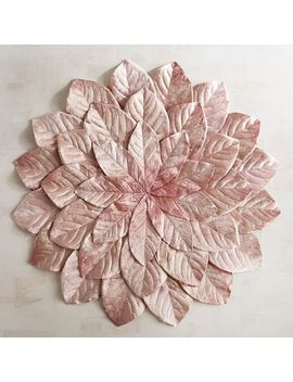Faux Magnolia Blush Leaf Placemat by Pier1 Imports