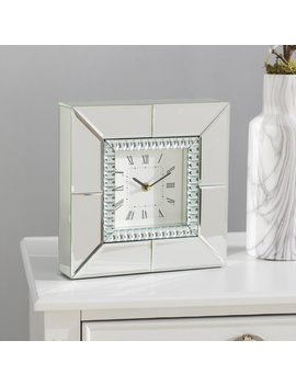 House Of Hampton Mirrored Table Clock & Reviews by House Of Hampton