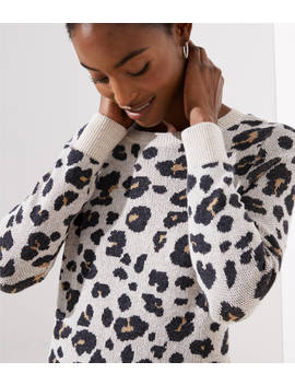 Petite Leopard Sweater Dress by Loft