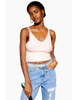 Fluffy Bralet by Topshop