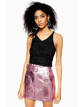 Tinsel Fluffy Bralet by Topshop