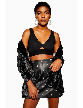 Ribbed Cut Out Bralet by Topshop