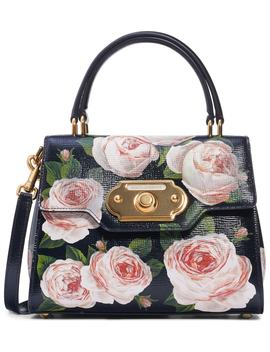 Mini Welcome Floral Print Leather Satchel by Dolce&Gabbana