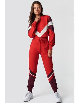 Stripe Blocked Sweatpants by Na Kd