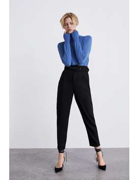 Broek Met Hoge Taille En Riem  Blazersdames New Collection by Zara
