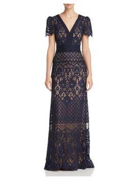 Lace Overlay Gown by Tadashi Shoji