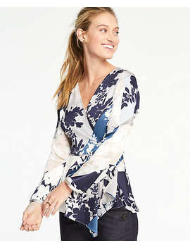 Floral Scarf Wrap Top by Ann Taylor