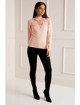 Lipsy Lace Front Turtle Neck Jumper by Next