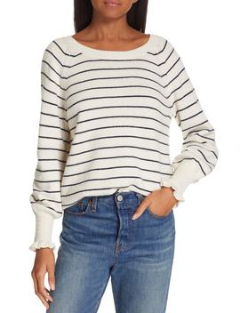 Stripe Wool Blend Sweater by Rebecca Taylor