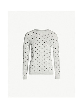Star Print Round Neck Knitted Jumper by Whistles