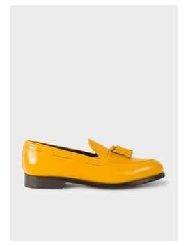Men's Yellow Leather 'simmons' Tasseled Loafers by Paul Smith