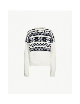 Mockoon Fairisle Patterned Knitted Jumper by Maje