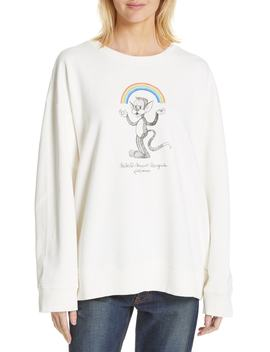Kidswear Mascot Graphic Sweatshirt by Mm6 Maison Margiela
