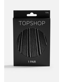 Linear Pattern Tights by Topshop