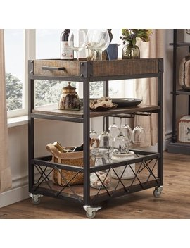 Weston Home Kitchen Cart, Dark Brown by Weston Home