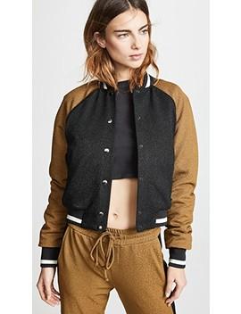 Kent Crepe Varsity Jacket by Twenty Tees