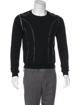 2015 Zip Accented Lightweight Knit Sweater by Saint Laurent
