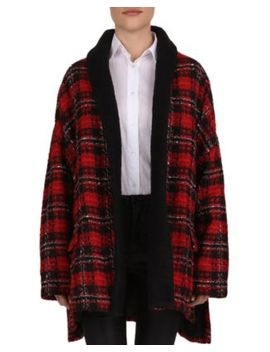 Metallic Plaid Tweed Coat by The Kooples