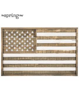 American Flag Wood Wall Decor by Hobby Lobby