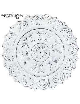 Distressed White Medallion Metal Wall Decor by Hobby Lobby