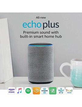 All New Echo Plus (2nd Gen)   Premium Sound With Built In Smart Home Hub   Sandstone by Amazon
