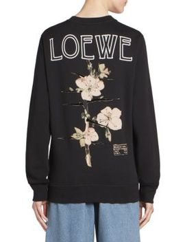 Cotton Botanical Sweatshirt by Loewe