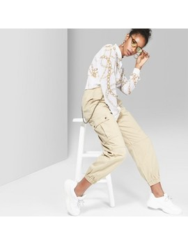 Women's Twill Utility Cargo Pants   Wild Fable™ Khaki by Wild Fable