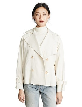 Cropped Trench Coat by Vince