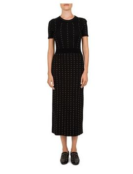 Studded Ribbed Midi Dress by The Kooples