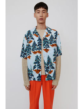Print Shirt Pale Blue/Orange by Acne Studios