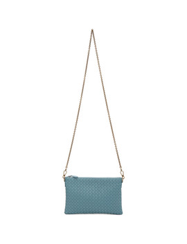 Blue Intrecciato Billeto Chain Bag by Bottega Veneta