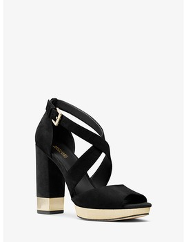 Valerie Suede Platform Sandal by Michael Michael Kors