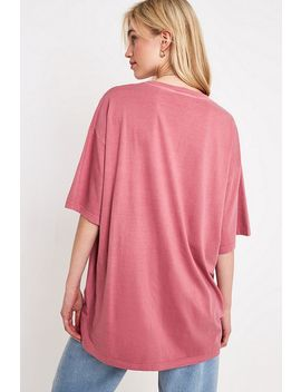 Uo Pink Oversized Dad T Shirt by Urban Outfitters
