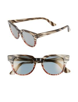 Meteor 50mm Mirrored Wayfarer Sunglasses by Ray Ban