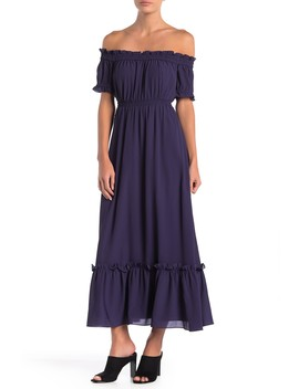 Vivian Off The Shoulder Maxi Dress by Ce Ce By Cynthia Steffe