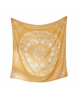 Simpkeely Sketched Floral Medallion Tapestry, Hippie Mandala Wall Hanging Tapestries, Indian Art Print Mural For Bedroom Living Room Dorm Home Décor 59.1x59.1 Inches by Simpkeely