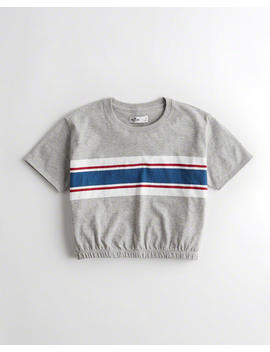 Banded Hem T Shirt by Hollister