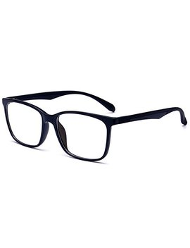 Anrri Blue Light Blocking Glasses For Computer Use, Anti Eyestrain Lens Lightweight Frame Eyeglasses, Black, Men/Women by Anrri