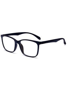 Anrri Blue Light Blocking Glasses For Computer Use, Anti Eyestrain Lens Lightweight Frame Eyeglasses, Black, Men/Women by Anrri