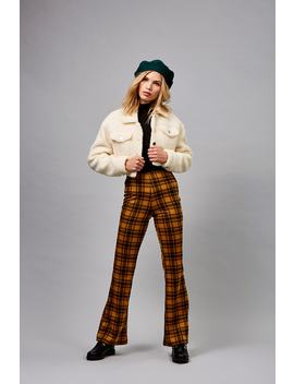 Plaid Flare Pants by Forever 21
