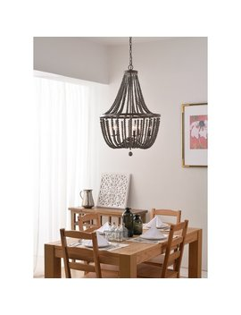 Bay Isle Home Tilden Wood Bead 5 Light Empire Chandelier & Reviews by Bay Isle Home