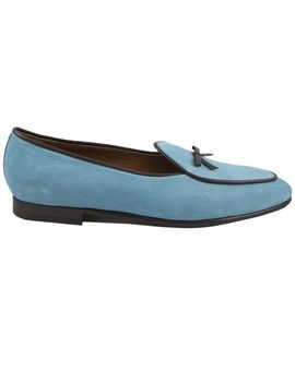 Men's Blue Kensington Loafers by Edhen Milano