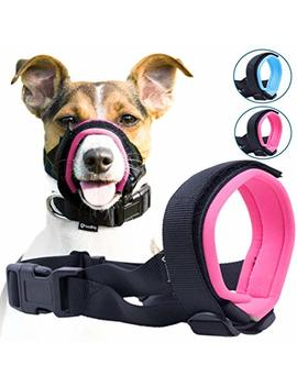 Gentle Muzzle Guard Dogs   Prevents Biting Unwanted Chewing Safely Secure Comfort Fit   Soft Neoprene Padding – No More Chafing – Included Training Guide Helps Build Bonds Pet by Good Boy