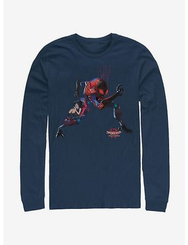 Marvel Spider Man Spider Verse Giant Robo Long Sleeve T Shirt by Hot Topic